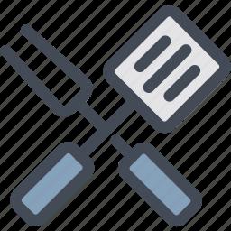 food, kitchen, kitchenware, spatula, tools, whisk icon