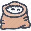 food, package, rice, sack, seasoning, spice icon