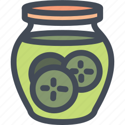 cooking, food, gastronomy, jar, pickles icon