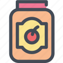 berry, bottle, food, fruit, jam, jar icon
