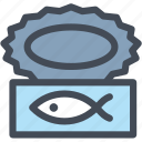camping, canned food, food, meal, tinned food icon