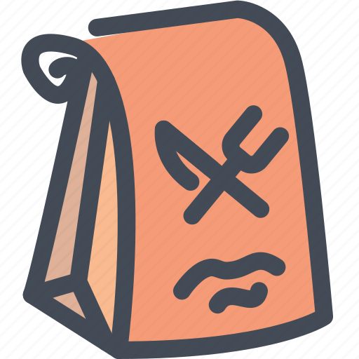 bag, food, package, paper, take away icon