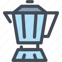 coffee, food, drink, hot, beverage, moka pot icon
