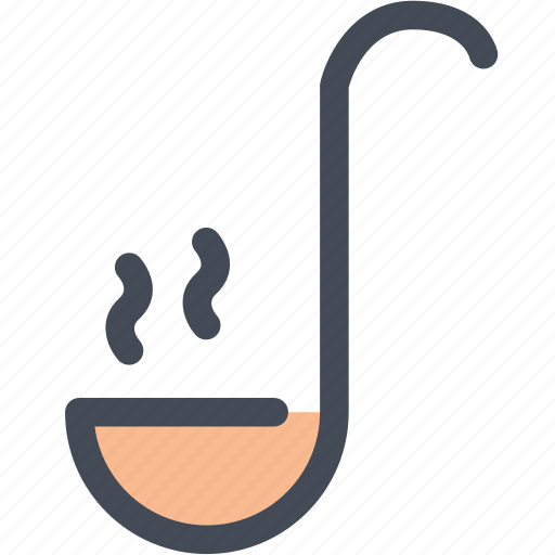 dipper, food, ladle, small spoon, spoon, tool icon