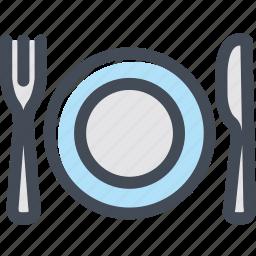 dish, food, fork, knife, restaurant, silverware icon