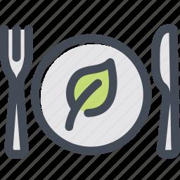 dish, food, green food, silverware, vegetable icon