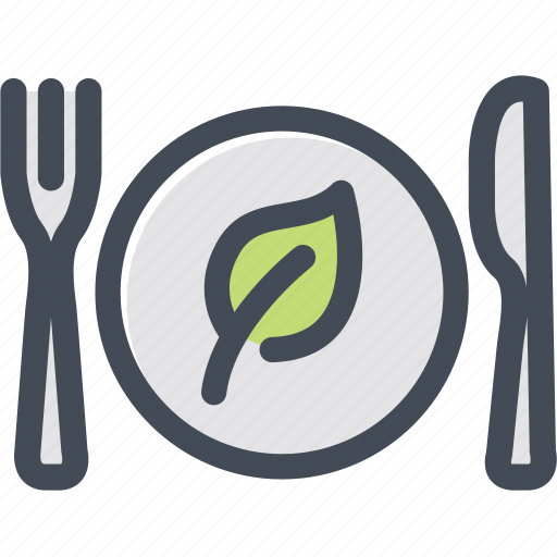 dish, food, green food, silverware, vegetable icon