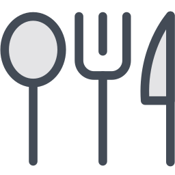 dish, flatware, fork, knife, spoon icon
