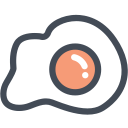 breakfast, egg, eggs, food, fried egg icon
