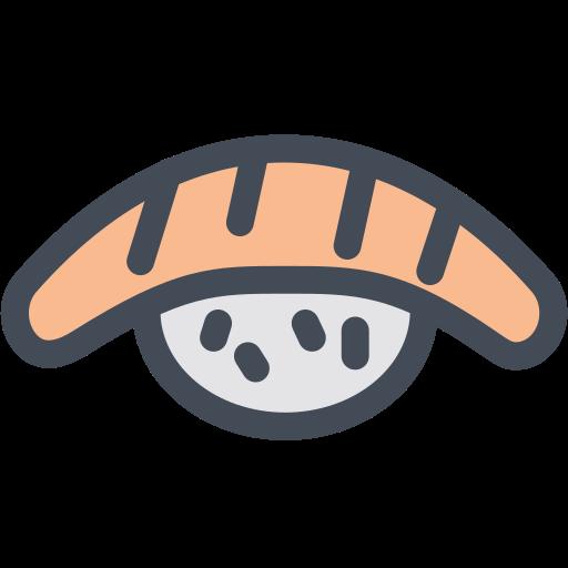 Food, japan, rice, salmon, sushi icon - Free download