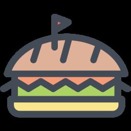 burger, cheeseburger, fast food, food, junk food icon