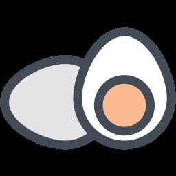 boiled egg, egg yolk, eggs, hard boiled egg, yolk icon