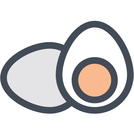 boiled egg, egg yolk, eggs, hard boiled egg, yolk icon