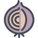 cooking ingredient, food, nature, onion, vegetable icon