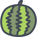 food, fresh, fruit, summer, watermelon icon