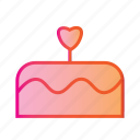birthday cake, cake, dessert, food, party, valentines day, wedding cake icon