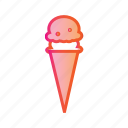 cone icecream, delicious food, dessert, food, ice cream, icecream, sweet icon