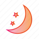 buffet, dinner, moon, moonlight dinner, night, night time icon