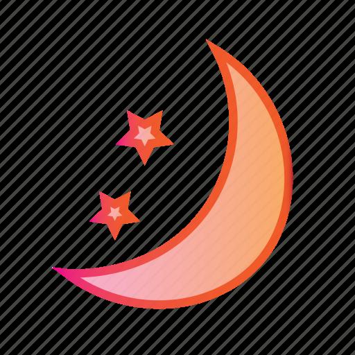 buffet, dinner, moon, moonlight dinner, night, night time icon
