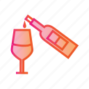 alcohol, beverage, bottle and glass, drink, glass, juice, wine icon