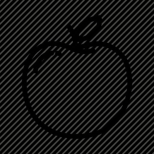 apple, fresh, fruit, juice, leaf, peach, vegan icon