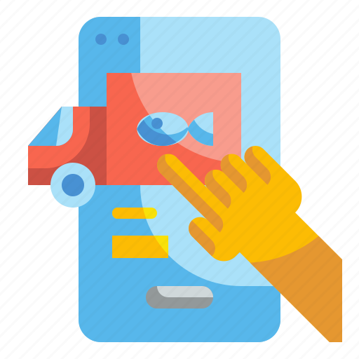 Delivery, food, mobile, order, technology icon - Download on Iconfinder