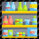 drink, food, shelves, shelving, supermarket