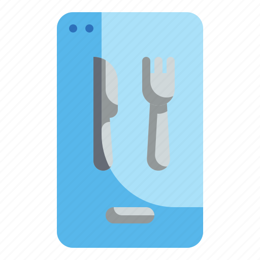 Application, delivery, food, phone, smart icon - Download on Iconfinder