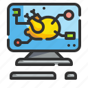 computer, food, online, order, technology icon