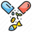 capsule, drugs, food, medical, pill icon