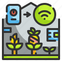 agriculture, farming, gardens, plant, technology icon