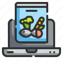 computer, food, health, knowledge, technology icon
