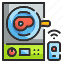 appliance, cleaning, dishwasher, electric, wifi icon