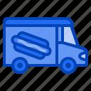 hotdog, sausage, fastfood, sandwich, street, food, truck