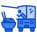 ramen, noodle, bowl, restaurant, street, food, truck