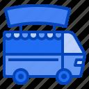 van, vehicle, delivery, shop, street, food, truck
