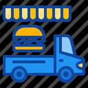 burger, hamburger, fastfood, lunch, street, food, truck