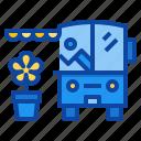 flower, shop, delivery, vendor, street, food, truck