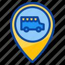 location, place, parking, van, street, food, truck