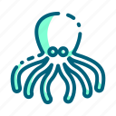 animal, food, octopus, pulpo, seafood icon