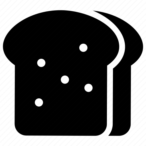 bread, bread slice, refreshment, sandwich, toast icon