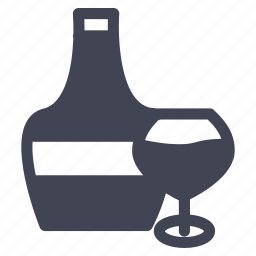 alcohol, and, beverage, bottle, drink, glass icon