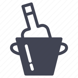 alcohol, beverage, bottle, cooling, drink, wine icon