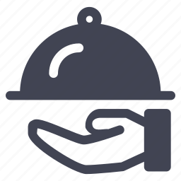 food, hand, meal, restaurant, service icon