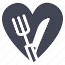 cook, diet, food, heart, love, valentine icon