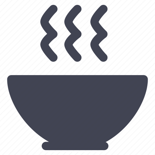 bowl, food, kitchen, meal, soup icon