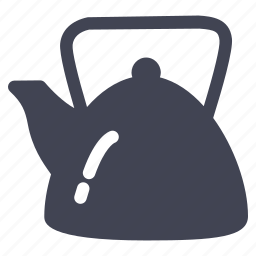 beverage, drink, kettle, tea, water icon