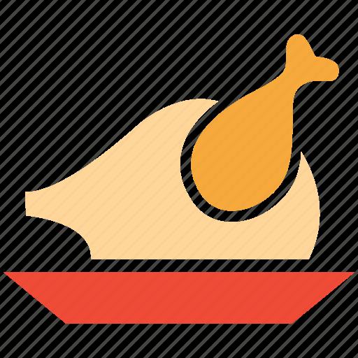 chicken, roast, roasted chicken, roasted turkey icon