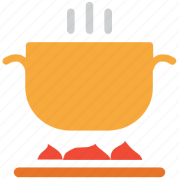 cooking, food, food on stove, hot food icon