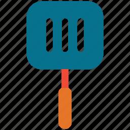 kitchen utensil, spatula, turner, turning spatula icon